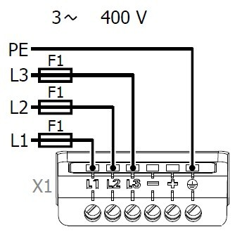 Variable frequency drive connection with fuses