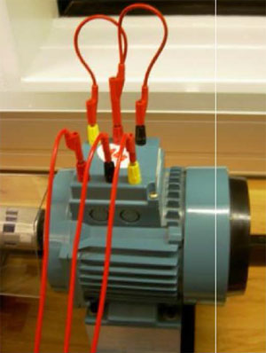 Induction motor in star wiring