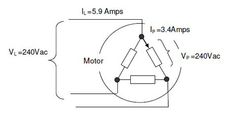 motor delta connection